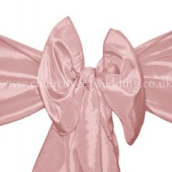 Blush Chair Sashes Uk Office Armrest Mauve Taffeta Sash Pink