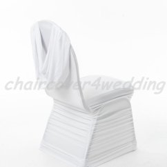Ruched Spandex Chair Cover Carters High Swag Back In White Sandra Covers
