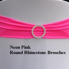 Neon Pink Chair Chairs And Ottoman Sets Expand Bands Spandex Lycra Cover Covers