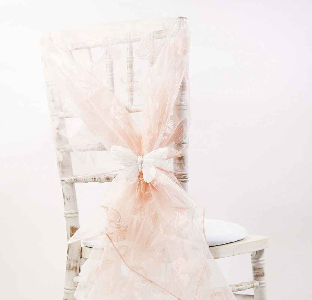 chair cover depot uk office comfort accessories buy organza flock butterfly hoods 110cm x 130cm pale