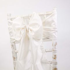 Chair Cover Depot Uk Lexmod Edge Office Drafting Buy Taffeta Sash Ice Ivory From