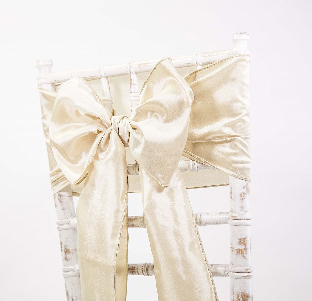 chair cover depot uk target stacking sling lounge buy taffeta sash champagne from