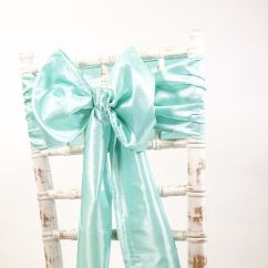 Chair Cover Depot Uk Top Grain Leather Dining Chairs Buy Taffeta Sash Aqua From