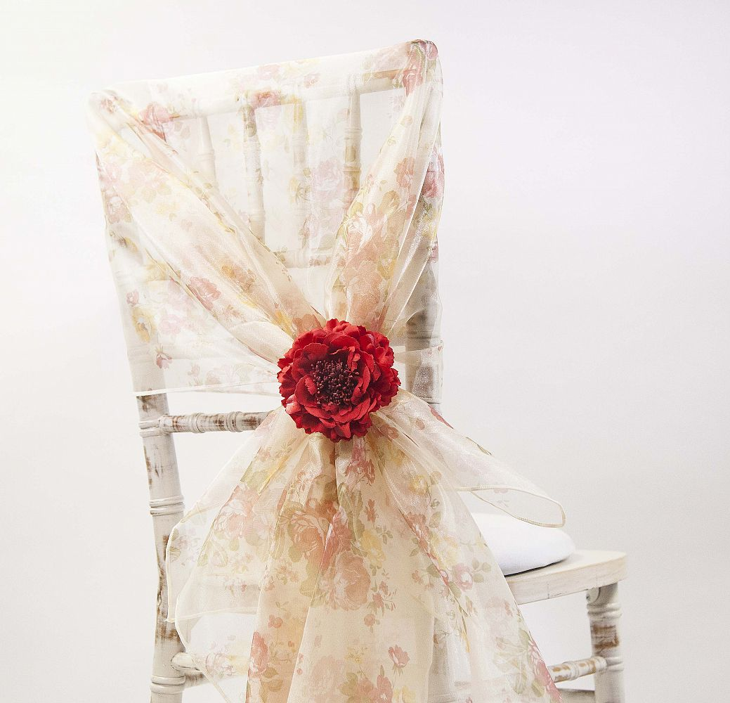 chair cover depot uk best to use after back surgery buy vintage floral print organza hoods from