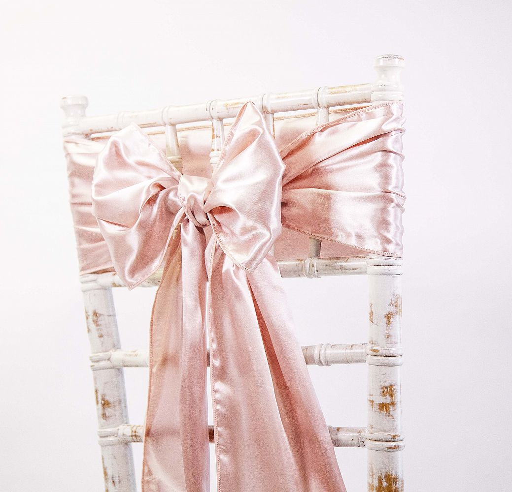 rose gold satin chair sashes vintage kitchen table and chairs buy sash from cover depot