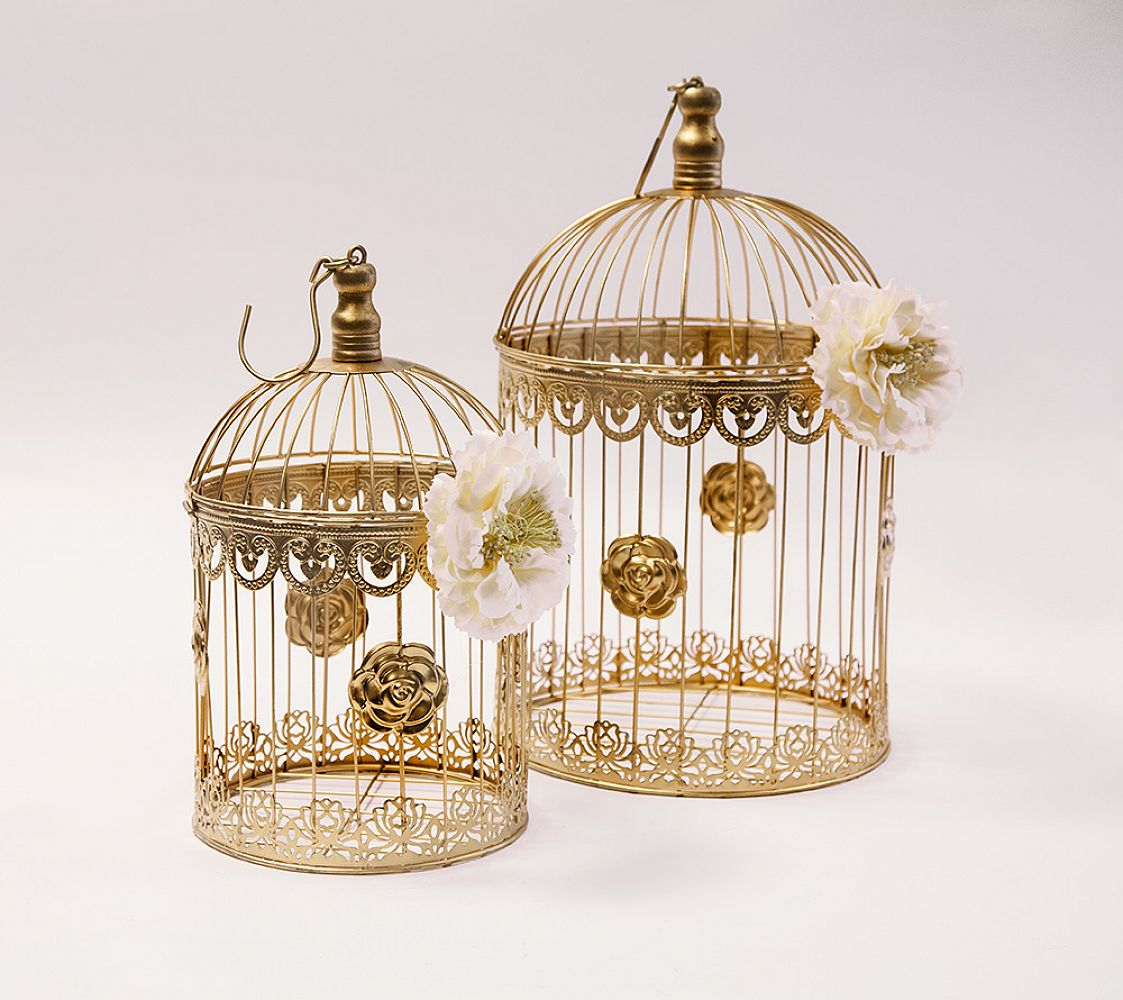 chair cover depot uk vanity buy gold birdcage set of 2 yw4105 from