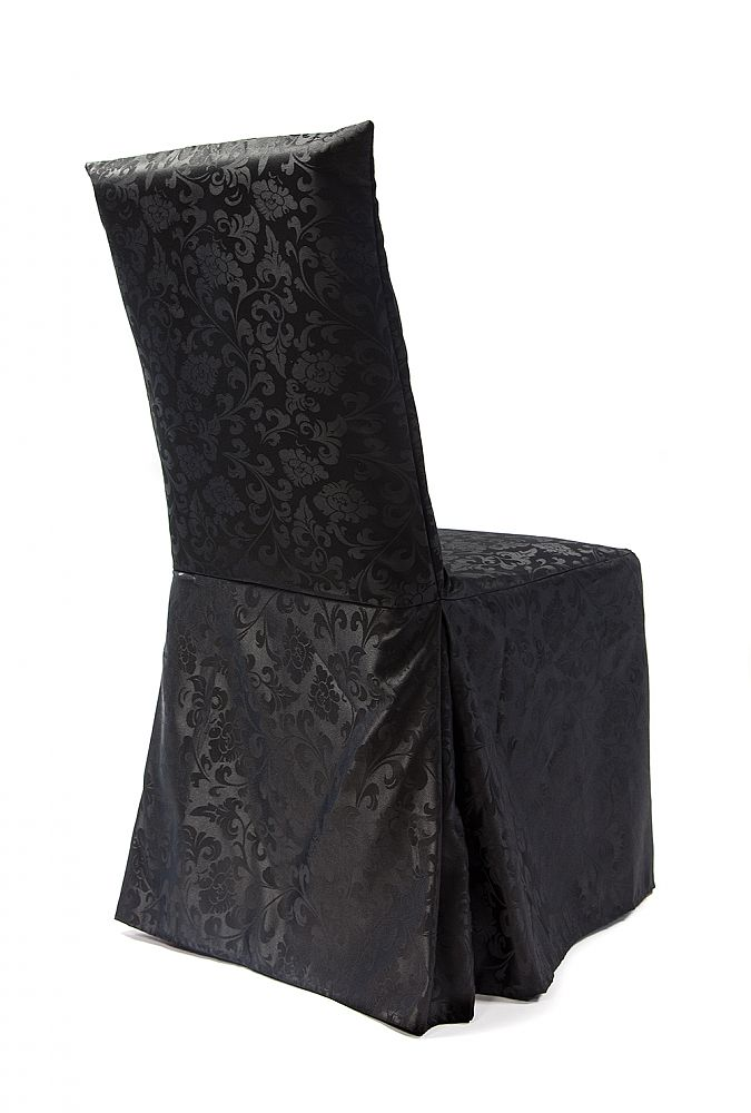 Buy Damask Dining Chair Covers RJ04  Black from Chair
