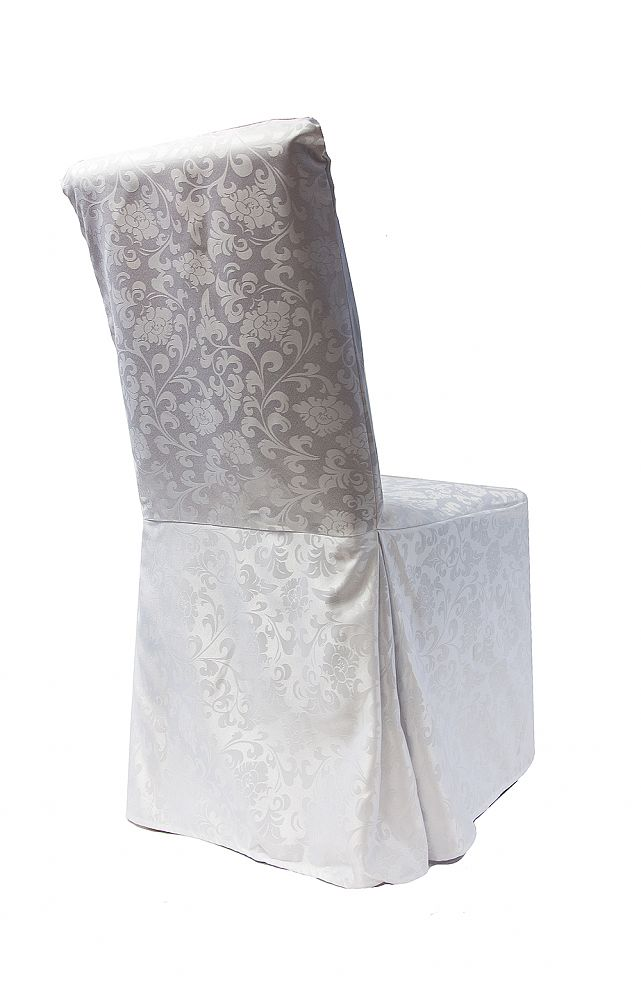 Buy Damask Dining Chair Covers RJ04  White from Chair