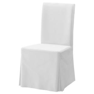 White premium cotton cotton chair cover