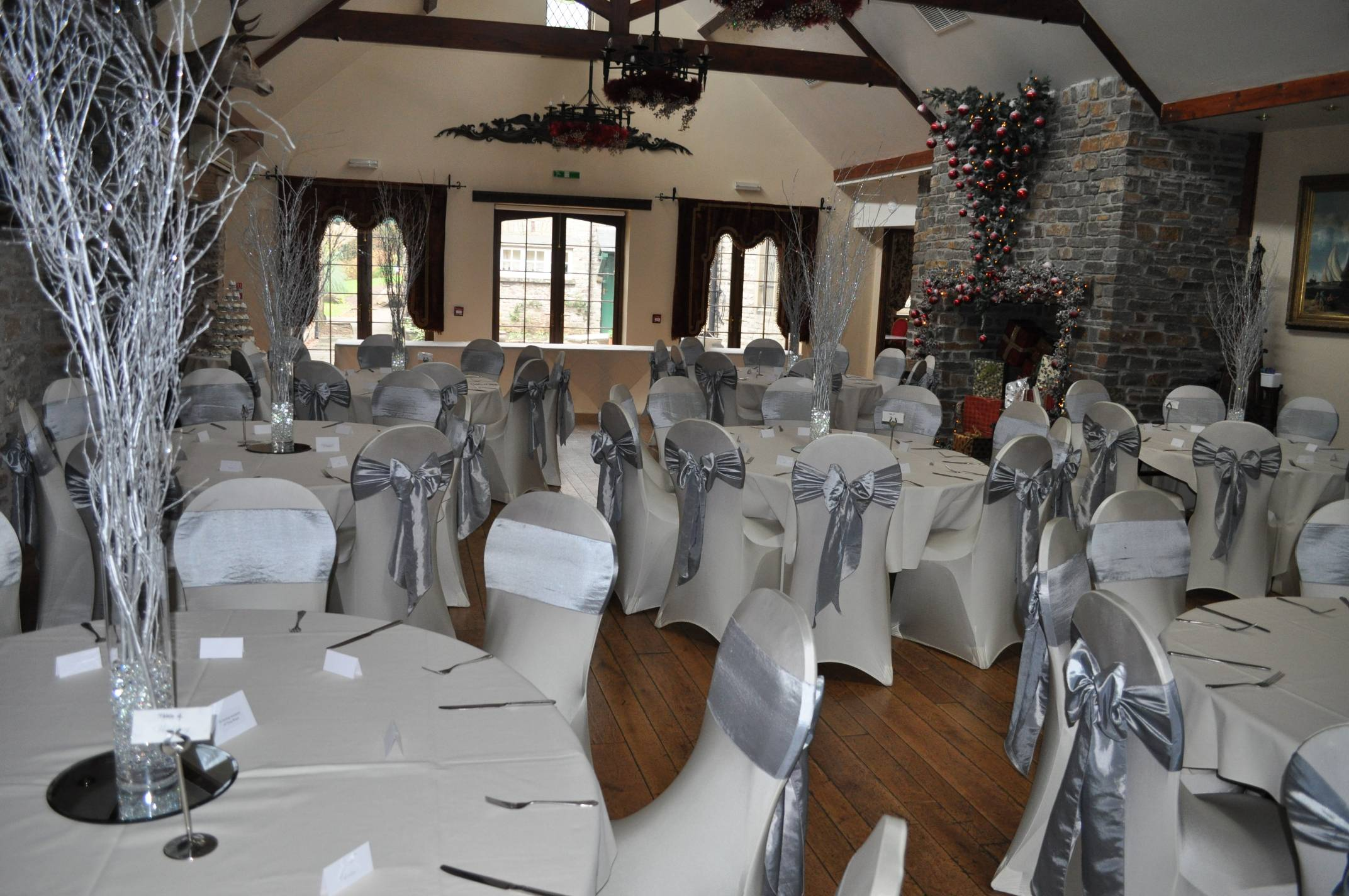 wedding chair covers cardiff bath for disabled centrepieces martini vases candelabras fairy