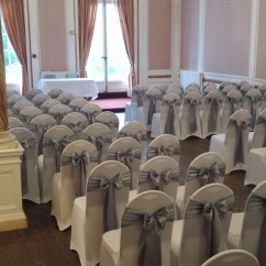 Wedding Chair Covers And Bows South Wales Dining With Armrest Sash Colours Court Colman