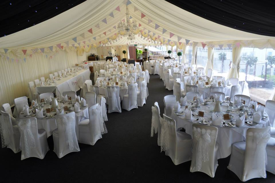 wedding chair covers and bows south wales glider recliner sash colours new house hotel marquee gallery