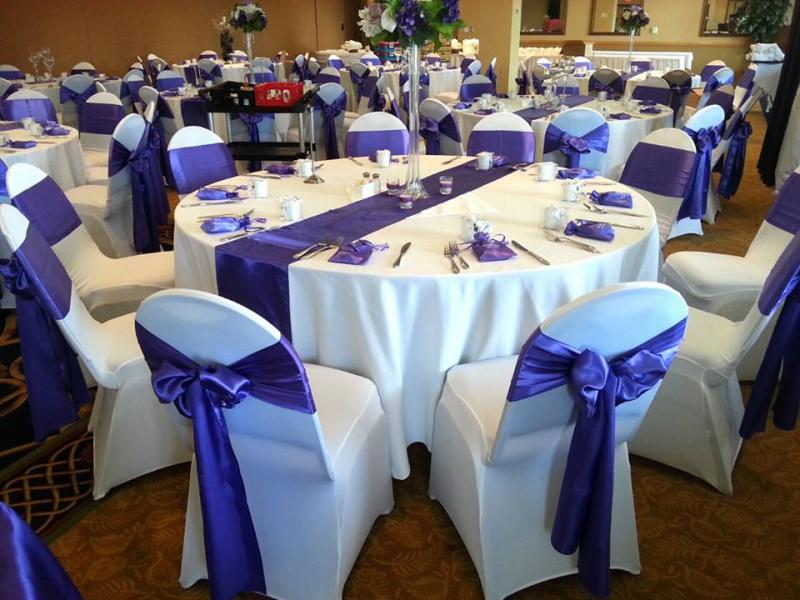 chair covers at wedding reception white wood folding with padded seat in dc md va home washington navy yard