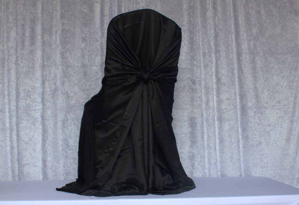 chair covers and more houston sit in your black satin self tie cover chairs