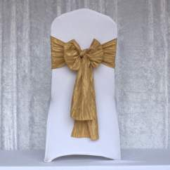Chair Covers With Gold Sash Inflatable Canadian Tire Crushed Taffeta Chairs And More