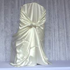 Ivory Satin Chair Covers Flex One Folding Self Tie Cover Chairs And More