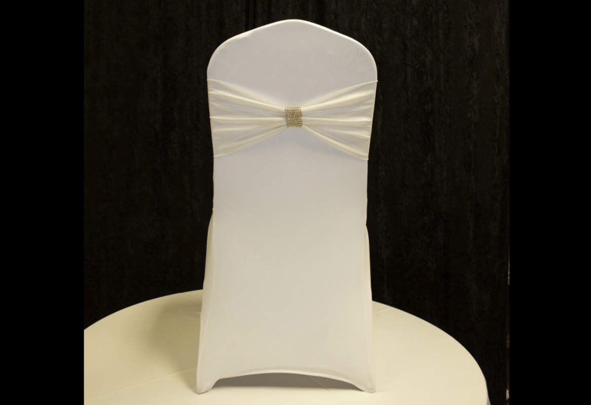 ivory chair covers with gold sash poang etsy band spandex chairs and more
