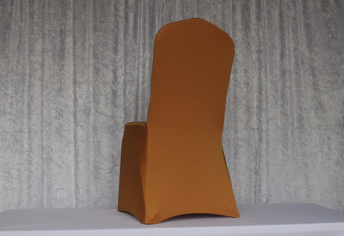 GoldSpandexChairCover  Chairs Covers and More