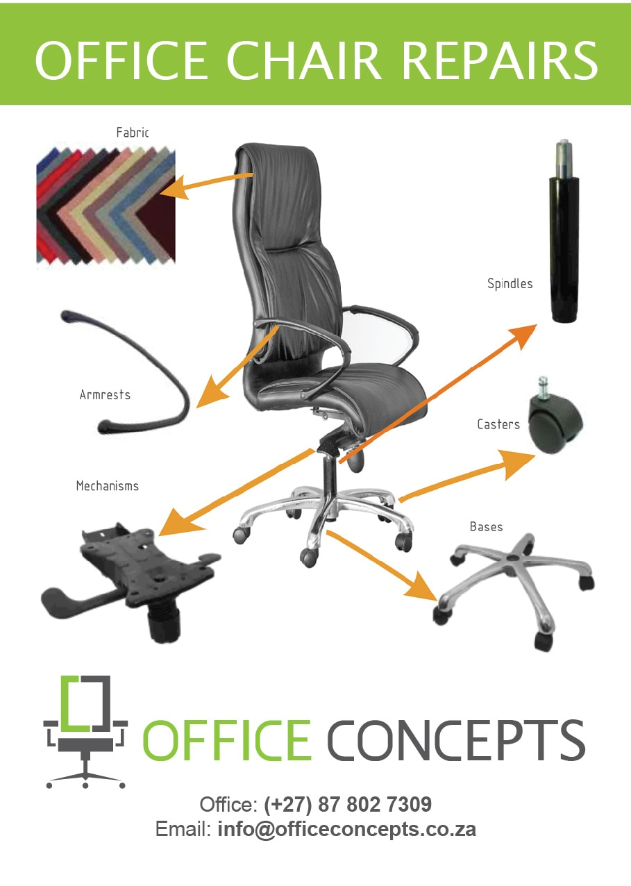 ergonomic chair replacement parts counter height repairs of office chairs concepts furniture supplier and manufacturer cape town