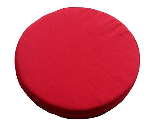 16 round bistro chair cushions blue wing clingo 15 inches indoor/outdoor seat pad with neodymium magnets (red) for ...
