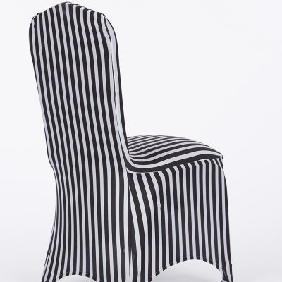chair covers gray diy cushion upholstery stretch decor black white stripe cover