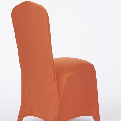 stretch chair covers bedroom with skirt decor burnt orange cover