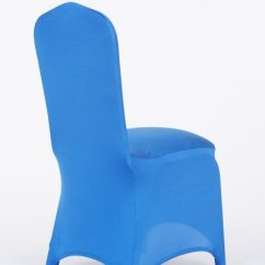Royal Blue Chair Covers Toddler Adirondack Plastic Stretch Decor Cover