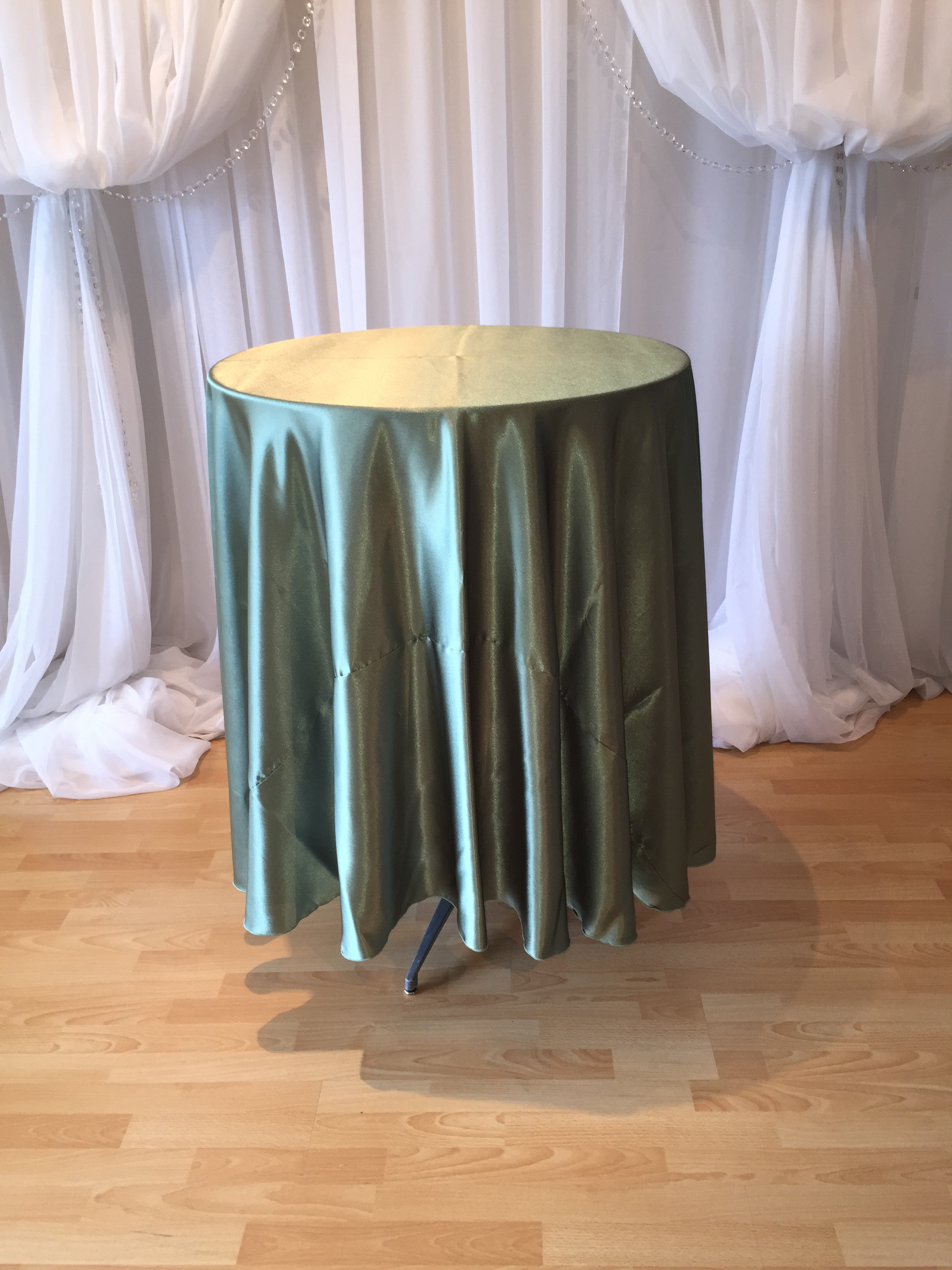 chair covers sage green pottery barn personalized baby decor  satin tablecloth