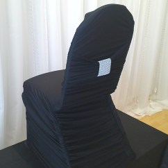 White Ruched Chair Covers Ghost Desk Decor  Black Rouched Cover