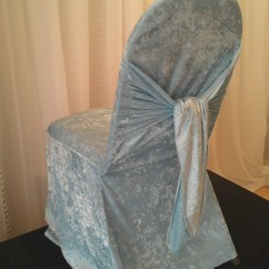 Velvet Chair Covers Wholesale China Glossy White Wood Outdoor Rocking Decor  Blue Bella Cover