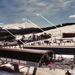 Ski Chair Lift Adirondack Table And Set Breckenridge
