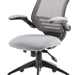 White Mesh Office Chair Uk Folding With Umbrella Tangent Deeply Padded Grey Seat