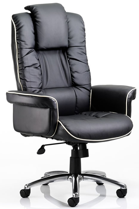 office chair uk pc game lombardy executive black leather deeply padded