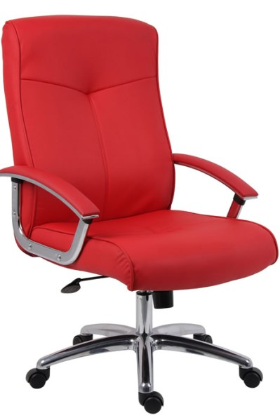 red leather executive office chair Hoxton Red Leather Executive Office Chair