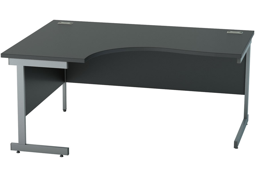 Nene Black Crescent Office Desk Left Or Right Handed