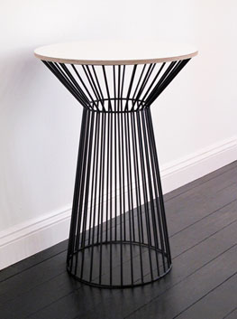 Textured Ply  Steel Tulip Side Table