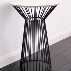 Chair Accessories Flip Bed Textured Ply & Steel Tulip Side Table.