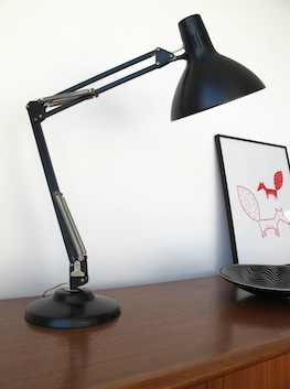 Black Desk Lamp by Thousand and One Lamps London