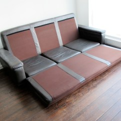 Sofa Bed Reduced Danish Leather Gumtree