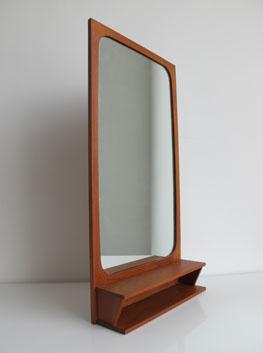 Teak Shelved Mirror Denmark
