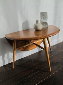 Elm  Beech DropLeaf Side Table by Ercol