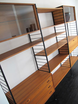 Teak  Steel Ladderax Shelving System by Ladderax UK