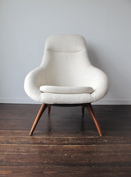 low back chair marais knock off 'gemini' pod by walter chenery, for lurashell, uk.