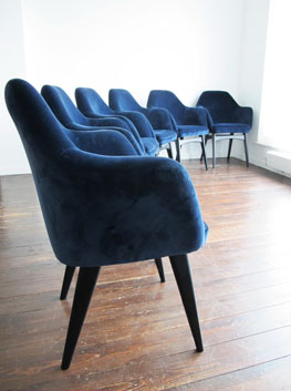 Dark Blue Chair