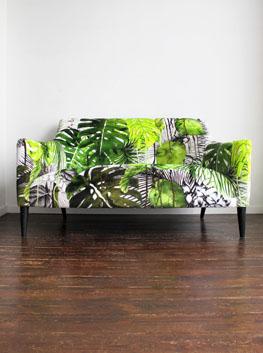 ReUpholstered Vintage TwoSeater Sofa