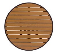 Longport Aluminum and Synthetic Teak Round Table Top ...