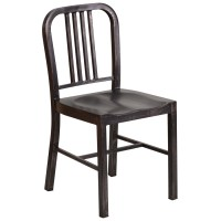 Navy Style Industrial Metal Powder Coated Chair, Tabouret