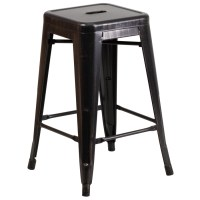 Tolix Backless Counter Stool, Colored Tolix Collection ...