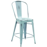 Tolix Distressed Indoor-Outdoor Counter Stool, Colored ...
