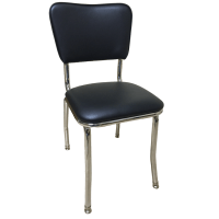 Retro Style Padded Chrome Chair, Retro Collection : Chairs ...